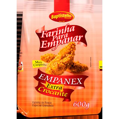 Farinha de rosca extra crocante pacote 600g Empanex/Baptistella PCT