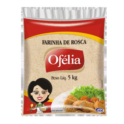 Farinha de rosca pacote 5kg Ofélia PCT