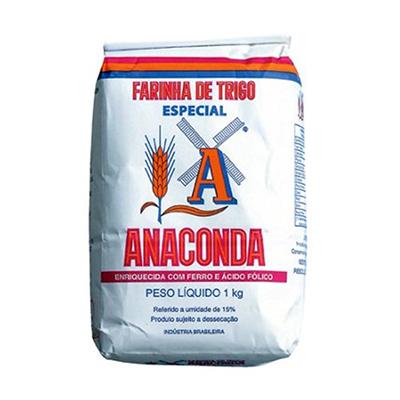 Farinha de trigo especial 1kg Anaconda pacote PCT