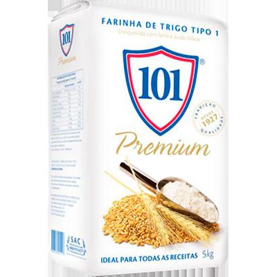 Farinha de trigo especial 5kg 101 pacote PCT