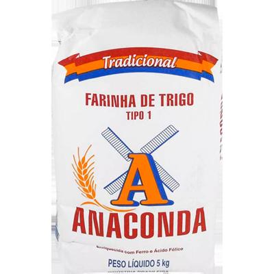 Farinha de trigo especial 5kg Anaconda pacote PCT