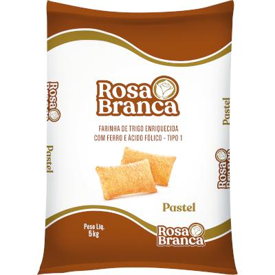 Farinha de trigo especial para pastel 5kg Rosa Branca pacote PCT