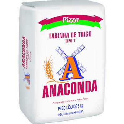Farinha de trigo especial para pizza 5kg Anaconda pacote PCT