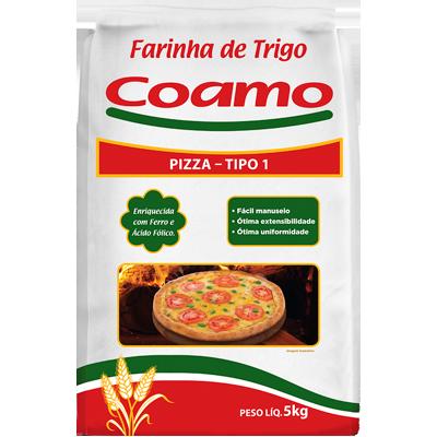 Farinha de trigo especial para pizza 5kg Coamo pacote PCT