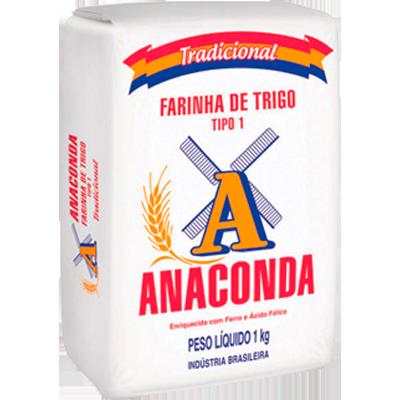 Farinha de trigo  1kg Anaconda pacote PCT