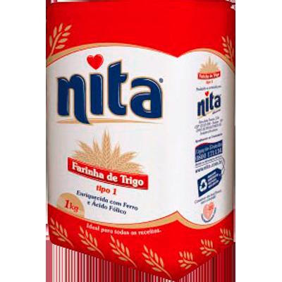 Farinha de trigo  1kg Nita pacote PCT