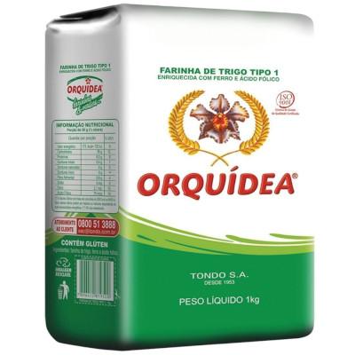 Farinha de trigo  1kg Orquídea pacote PCT