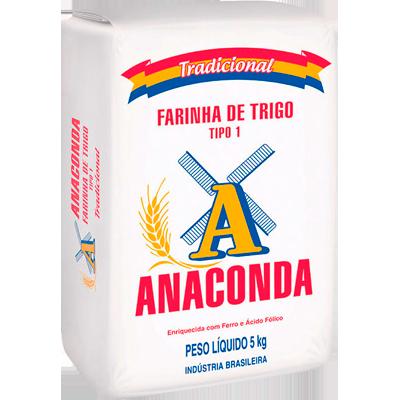 Farinha de trigo  5kg Anaconda pacote PCT