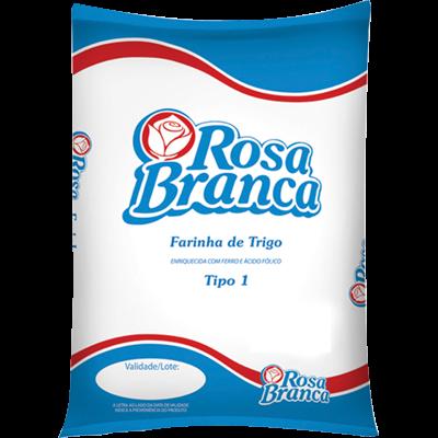 Farinha de trigo  5kg Rosa Branca pacote PCT