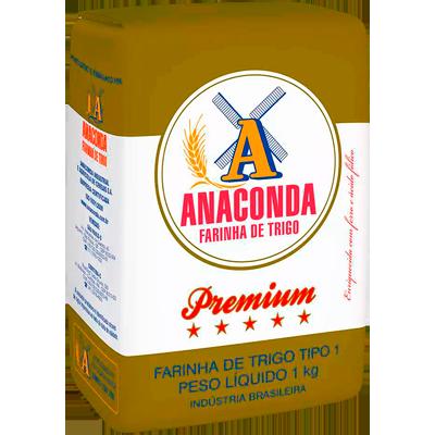 Farinha de trigo premium 1kg Anaconda pacote PCT