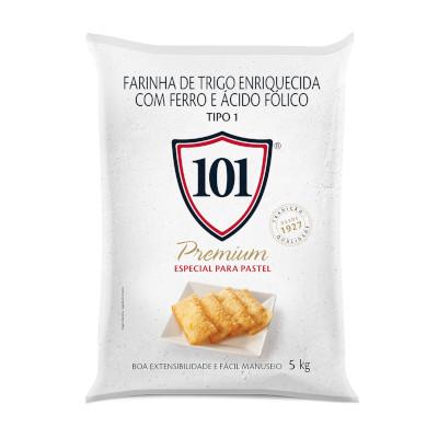 Farinha de trigo premium 5kg 101 pacote PCT