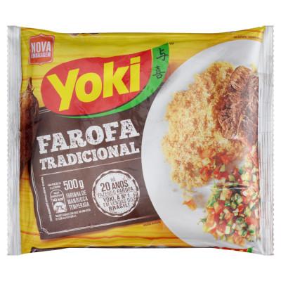 Farofa temperada 500g Yoki pacote PCT