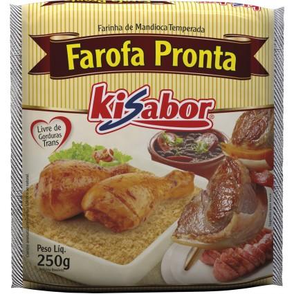 Farofa tradicional pacote 250g KiSabor PCT