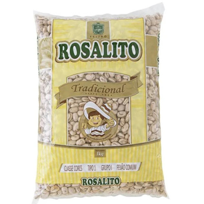 Feijão Branco  1kg Rosalito pacote PCT