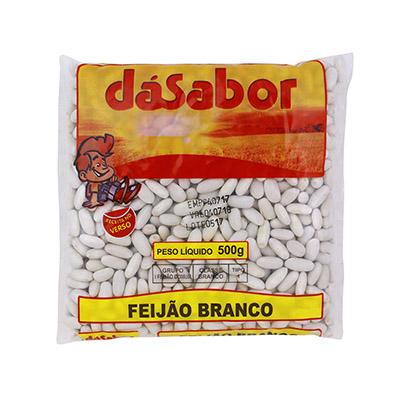 Feijão Branco  500g DáSabor pacote PCT