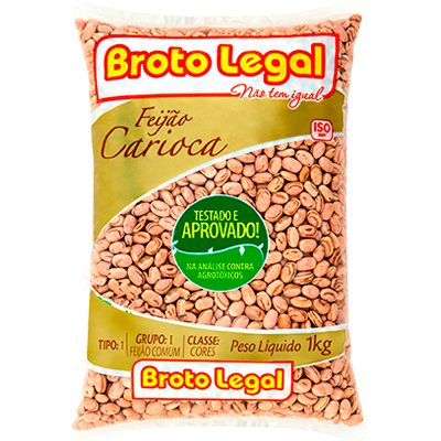 Feijão carioca pacote 1kg Broto Legal PCT
