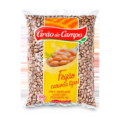 Feijão carioca pacote 1kg Grão do Campo PCT