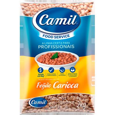 Feijão Carioca  2kg Camil pacote PCT