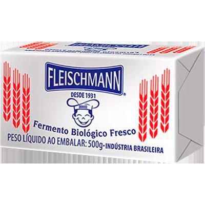 Fermento Biológico fresco 500g Fleischmann pacote UN