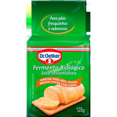 Fermento Biológico seco instantâneo pacote 125g Dr. Oetker UN