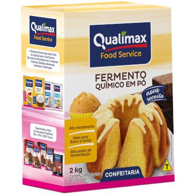 Fermento em pó químico 2kg Qualimax pacote PCT