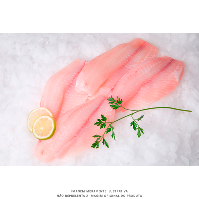 Filé de Tilápia (Saint Peter) congelado por Kg (filés a partir de 150g) Frigofish KG