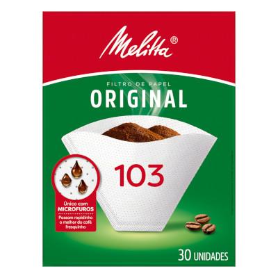 Filtro de café de papel n°103 30 unidades Melitta caixa UN