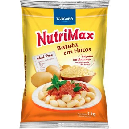 Flocos para purê de batata 1kg Nutrimax pacote PCT