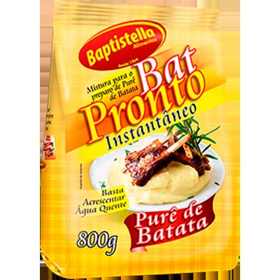 Flocos para purê de batata 800g Batpronto/Baptistella pacote PCT