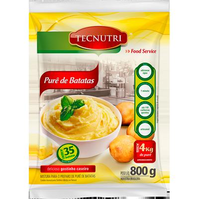 Flocos para purê de batata 800g Tecnutri pacote PCT