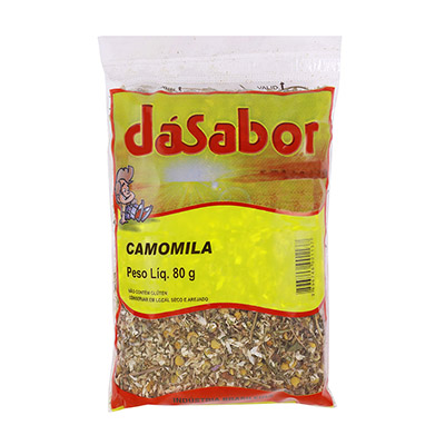 Flor de Camomila desidratada 80g DáSabor pacote PCT