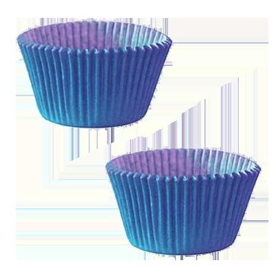Forminha para cupcake azul n°0 20 unidades Master Clean pacote PCT