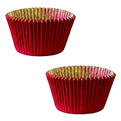 Forminha para cupcake vermelho n°0 20 unidades Master Clean pacote PCT