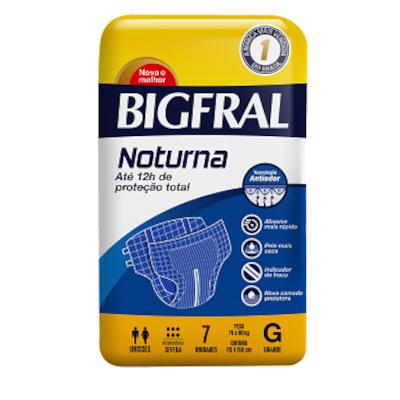 Fraldas Descartáveis geriátrica tamanho G Noturno 7 unidades Bigfral pacote PCT