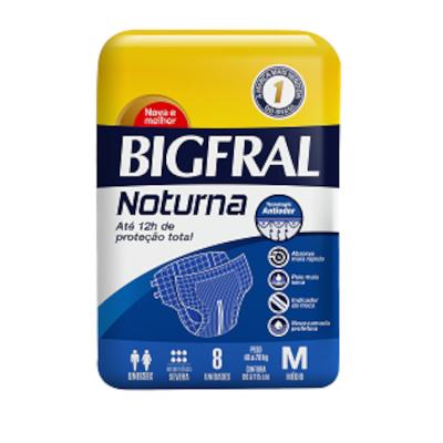 Fraldas Descartáveis geriátrica tamanho M Noturno 8 unidades Bigfral pacote PCT