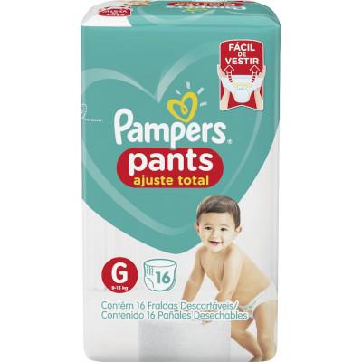 Fraldas Descartáveis tamanho G Pants pacote 16 unidades Pampers Confort Sec PCT