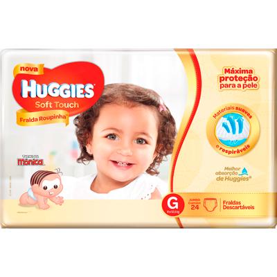 Fraldas Descartáveis tamanho G Soft Touch 24 unidades Huggies pacote PCT