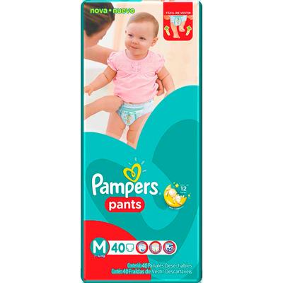 Fraldas Descartáveis tamanho M Pants Mega pacote 40 unidades Pampers PCT