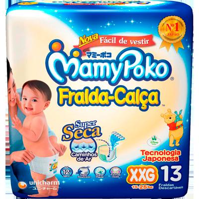 Fraldas Descartáveis tamanho XXG Fralda Calça pacote 13 unidades Mamypoko PCT