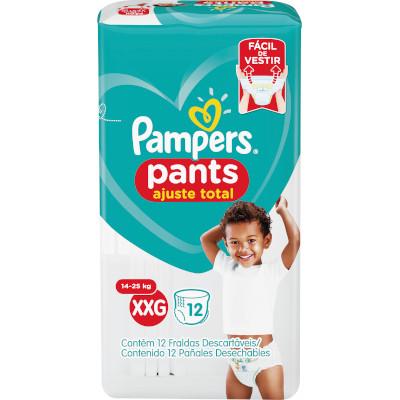 Fraldas Descartáveis tamanho XXG Pants pacote 12 unidades Pampers Confort Sec PCT