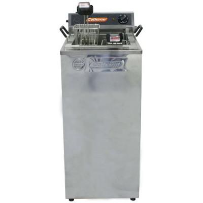 Fritadeira elétrica inox água e óleo gabinete 18 litros 220v unidade Cotherm  UN