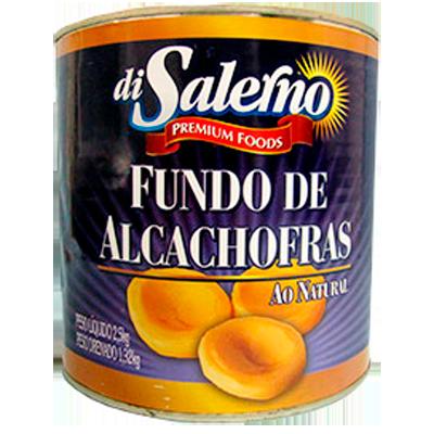 Fundo de alcachofra ao natural 2,5kg Di Salerno lata UN