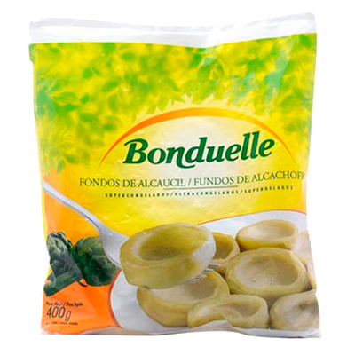 Fundo de Alcachofra congelada pacote 400g Bonduelle UN