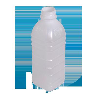 Garrafa plástica descartável laranja sem tampa 1Litro fardo 100 unidades Maluger UN