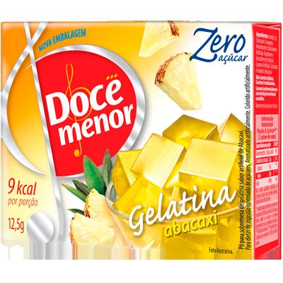 Gelatina sabor abacaxi diet 12,5g Doce Menor UN