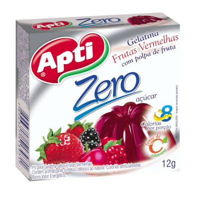 Gelatina sabor frutas vermelhas zero 12g Apti  UN