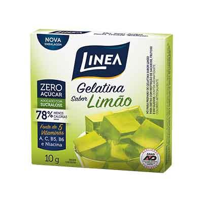 Gelatina sabor Limão zero 10g Linea  UN