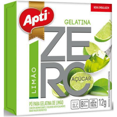 Gelatina sabor limão zero 12g Apti  UN