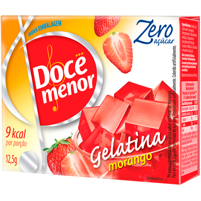 Gelatina sabor morango diet 12,5g Doce Menor UN