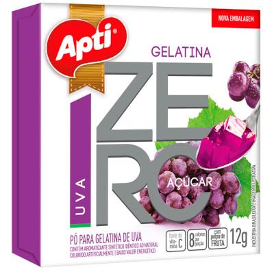 Gelatina sabor uva zero 12g Apti  UN